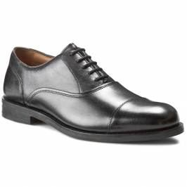 Poltopánky CLARKS - Coling Boss 261193457 Black Leather Elegantné