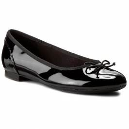 Baleríny CLARKS - Couture Bloom 261154754 Black Pat