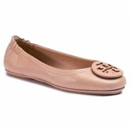 Baleríny TORY BURCH - Minnie Travel Ballet With Logo 49350 Goan/Sand 927