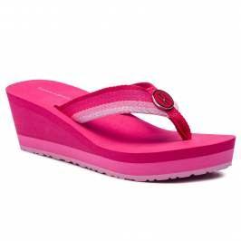 Žabky TOMMY HILFIGER - Ombre Effect Beach Sandal FW0FW03788 Bright Rose 633