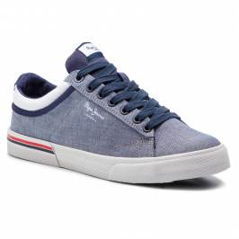 Tenisky PEPE JEANS - North Court PMS30542 Chambray 564 Obuv